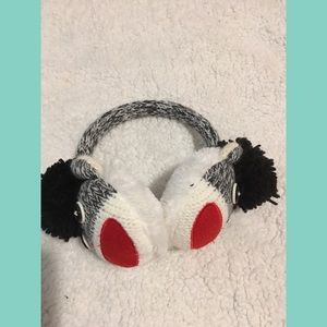Kids Sock Monkey Earmuffs